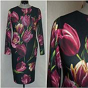 """Одежда ручной работы. Ярмарка Мастеров - ручная работа Платье """"Тюльпаны"""" из джерси. Handmade."""