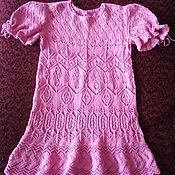 """Работы для детей, ручной работы. Ярмарка Мастеров - ручная работа Платье ажурное """"Розовая дымка"""". Handmade."""