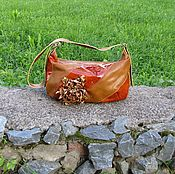 Сумки и аксессуары handmade. Livemaster - original item Leather women`s bag CLAUDIA red. Handmade.