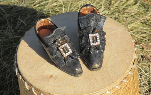 Одежда для кукол ручной работы. Ярмарка Мастеров - ручная работа. Купить Винтажные туфельки. Handmade. Черный, кукольная обувь