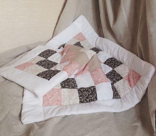 """Для новорожденных, ручной работы. Ярмарка Мастеров - ручная работа. Купить Детское лоскутное одеяло-конверт """"Pinky Pie"""". Handmade."""