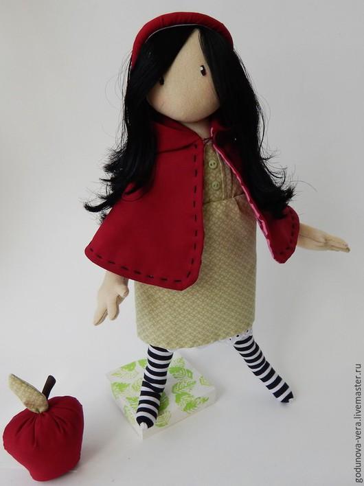 Коллекционные куклы ручной работы. Ярмарка Мастеров - ручная работа. Купить Энни  по мотивам Сьюзен Вулкотт. Handmade. Бордовый