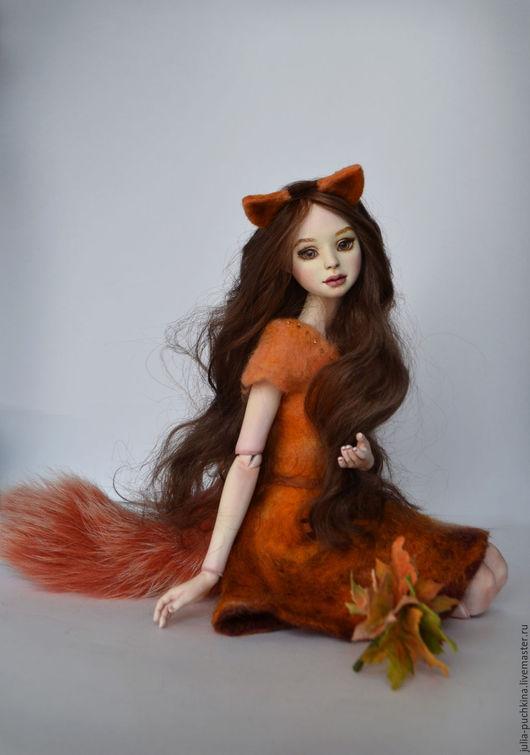 Шарнирная кукла Алиса лисичка
