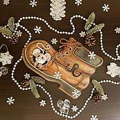 """Ключницы ручной работы. Ярмарка Мастеров - ручная работа Ключница - вешалка """"Домик для МЫШАни"""". Handmade."""