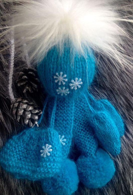 """Одежда для кукол ручной работы. Ярмарка Мастеров - ручная работа. Купить Комплект """"Голубой снег"""". Одежда для кукол. Handmade. Бирюзовый"""