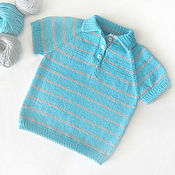 Работы для детей, handmade. Livemaster - original item Children`s knitted t-shirt. Handmade.