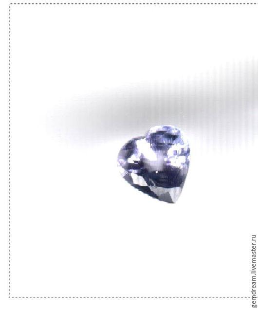 Для украшений ручной работы. Ярмарка Мастеров - ручная работа. Купить Натуральный камень танзанит (огранка сердце). Handmade. Голубой