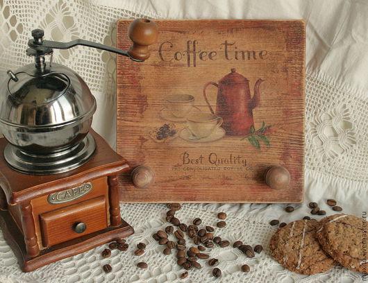 """Кухня ручной работы. Ярмарка Мастеров - ручная работа. Купить вешалка """" Coffe time """". Handmade. Вешалка, дерево"""
