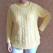 Одежда ручной работы. Ярмарка Мастеров - ручная работа Нежно-желтый свитер. Handmade.