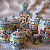 Для дома и интерьера ручной работы. Ярмарка Мастеров - ручная работа .Набор деревянной посуды. 8 предметов.. Handmade.