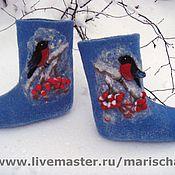 """Обувь ручной работы. Ярмарка Мастеров - ручная работа Валенки ручной работы """"Зима"""". Handmade."""