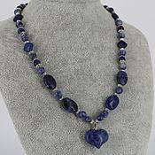 Украшения handmade. Livemaster - original item Necklace with a pendant of sodalite and lapis lazuli stones