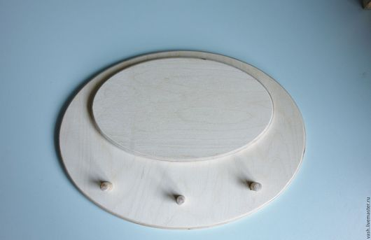 заготовка деревянная вешалка из фанеры 22х30 см