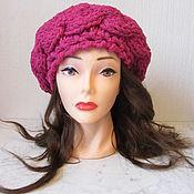 Аксессуары handmade. Livemaster - original item Raspberry beret Malinka. Handmade.