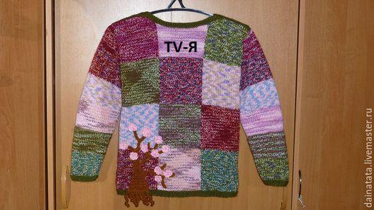 """Кофты и свитера ручной работы. Ярмарка Мастеров - ручная работа. Купить Пуловер """" Сакура в цвету """" Авторская работа.. Handmade."""