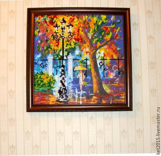 """Пейзаж ручной работы. Ярмарка Мастеров - ручная работа. Купить картина Л. Афремова """"Аура дождя"""". Handmade. Разноцветный, картина"""
