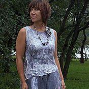 Одежда ручной работы. Ярмарка Мастеров - ручная работа платье валяное Жемчуга. Handmade.