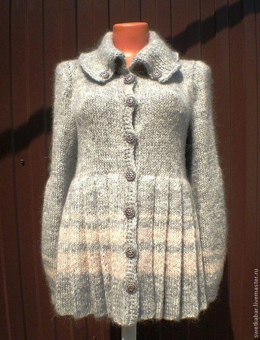 """Верхняя одежда ручной работы. Ярмарка Мастеров - ручная работа. Купить Пальто """"Париж"""". Handmade. Серый, пальто демисезонное"""