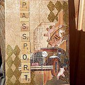 """Канцелярские товары ручной работы. Ярмарка Мастеров - ручная работа Обложка на паспорт """"Время"""". Handmade."""