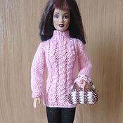 Куклы и игрушки ручной работы. Ярмарка Мастеров - ручная работа Теплый свитер с косами. Handmade.