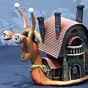 Куклы и игрушки handmade. Livemaster - original item Snail. Handmade.