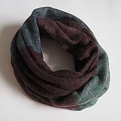 Аксессуары handmade. Livemaster - original item Snood knitted from kid-mohair in two turns. Handmade.