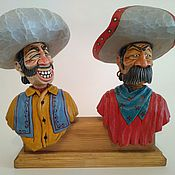 """Для дома и интерьера handmade. Livemaster - original item """"Друзья"""" - набор декоративных пробок для бутылок, на подставке.. Handmade."""