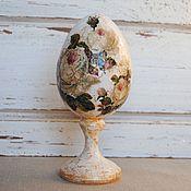 Подарки к праздникам ручной работы. Ярмарка Мастеров - ручная работа Яйцо пасхальное в стиле шебби-шик Розовые розы. Handmade.