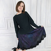 Одежда handmade. Livemaster - original item Felted skirt Pavlin-mavlin. Handmade.