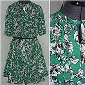 """Одежда ручной работы. Ярмарка Мастеров - ручная работа Платье из крепа изумрудно-зеленое"""" Лилия"""". Handmade."""