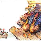 Картины и панно ручной работы. Ярмарка Мастеров - ручная работа Мышки в чулане. Handmade.
