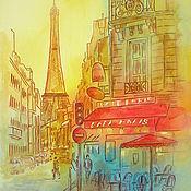 Картина холст на подрамнике Парижское кафе