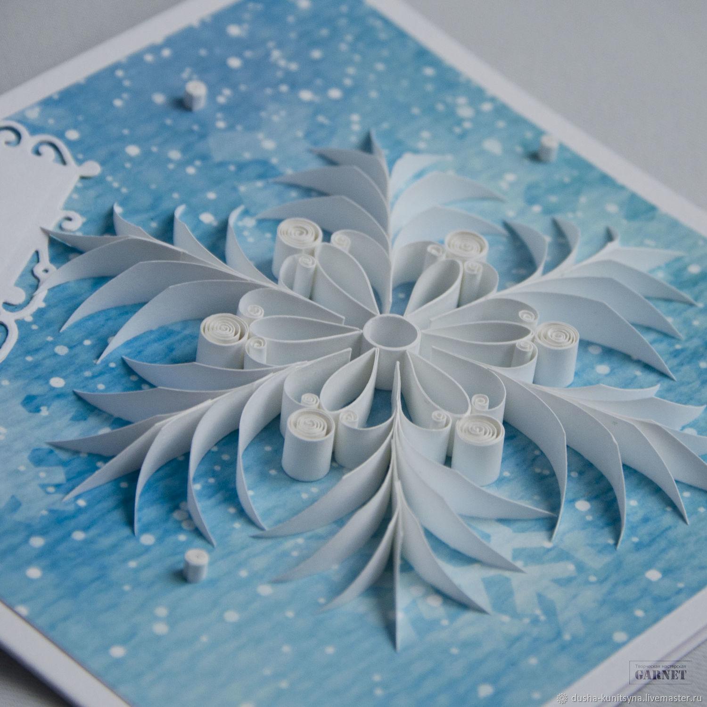 Днем рождения, снежинка как открытка