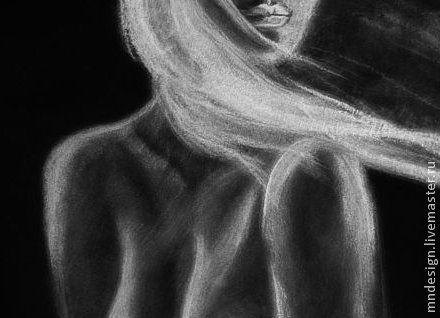 Рисуем черной пастель
