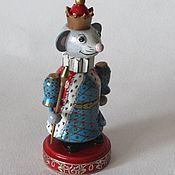 Мягкие игрушки ручной работы. Ярмарка Мастеров - ручная работа Мышиный король.1 Мышка символ 2020 г. Handmade.