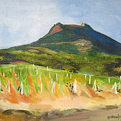 Картины и панно handmade. Livemaster - original item Picture. Crimea. The vineyards. Handmade.