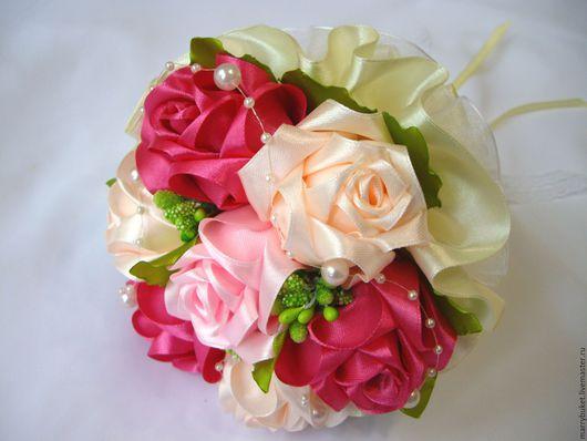 """Свадебные цветы ручной работы. Ярмарка Мастеров - ручная работа. Купить Букет-дублер """"Свадьба айвори"""". Handmade. Комбинированный, свадьба"""