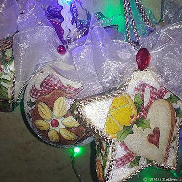 Сувениры и подарки ручной работы. Ярмарка Мастеров - ручная работа Набор елочных игрушек,, Любимые пряники. Handmade.