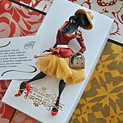 """Украшения ручной работы. Ярмарка Мастеров - ручная работа комплект: брошь """"Стефани"""",платок. Handmade."""