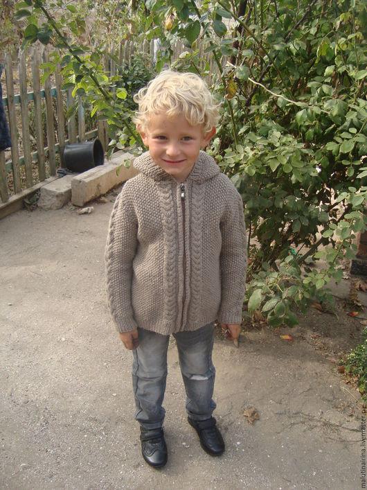 Одежда для мальчиков, ручной работы. Ярмарка Мастеров - ручная работа. Купить Кофта вязанная на мальчика. Handmade. Серый, ручная работа