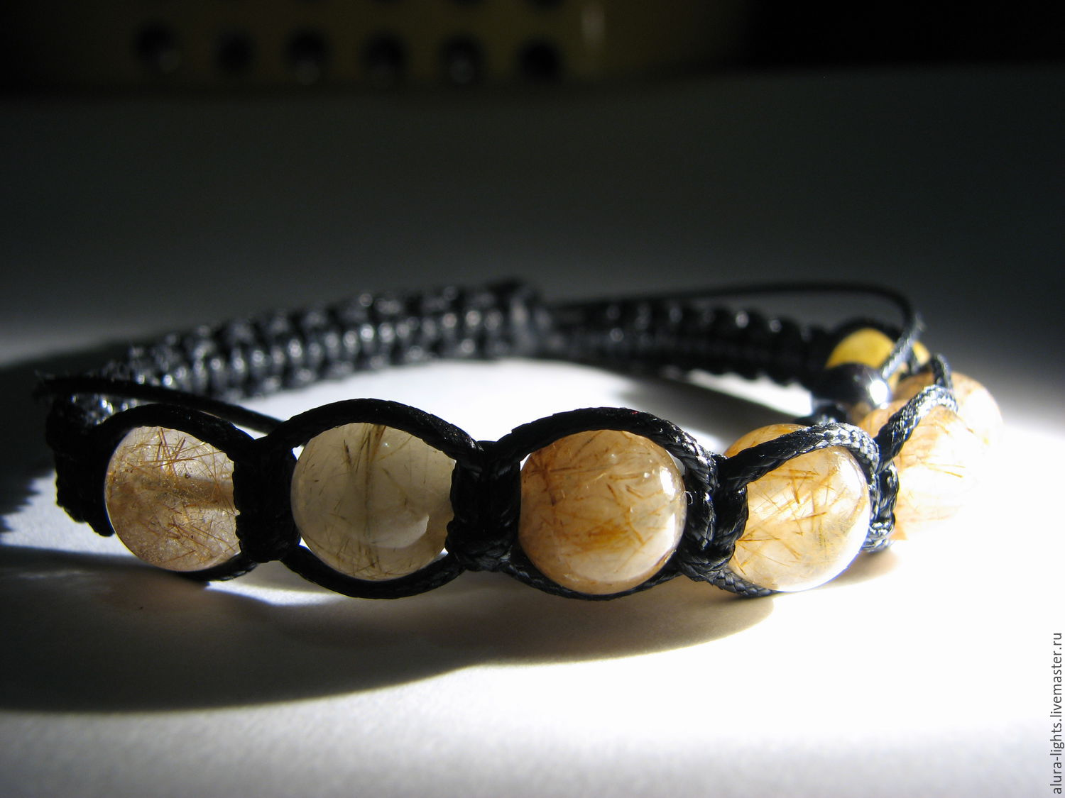 Shamballa bracelet with rutilated quartz 'love Story', Bead bracelet, Moscow,  Фото №1