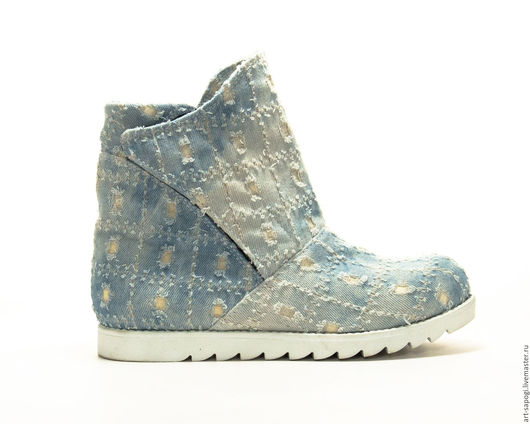 Обувь ручной работы. Ярмарка Мастеров - ручная работа. Купить Летние ботинки 8-157 (СБ). Handmade. женская обувь