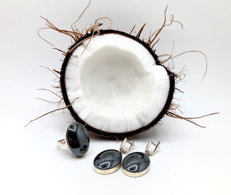 Set with hematite b, Jewelry Sets, Feodosia,  Фото №1