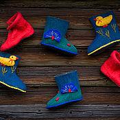 Обувь ручной работы. Ярмарка Мастеров - ручная работа валенки ручной работы с божьеми коровками. Handmade.