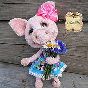 Куклы и игрушки ручной работы. Ярмарка Мастеров - ручная работа Свинка Фифи. Handmade.