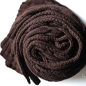 Для дома и интерьера ручной работы. Ярмарка Мастеров - ручная работа Плед Темный Шоколад полушерстяной ручная работа купить. Handmade.
