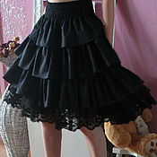 Одежда handmade. Livemaster - original item Skirt boho Black magic. Vintage, Bohemian chic.. Handmade.