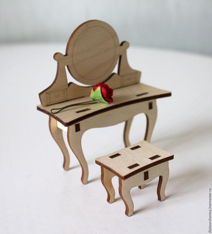 Кукольный туалетный столик своими руками 44