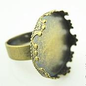 Материалы для творчества ручной работы. Ярмарка Мастеров - ручная работа Основа для кольца Корона 20мм, античная бронза. Handmade.
