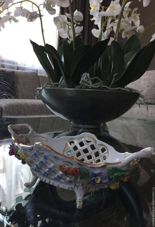 Винтажная посуда. Ярмарка Мастеров - ручная работа. Купить Винтажный салатник (конфетница), Германия, 1901г.. Handmade. Комбинированный, немецкий фарфор